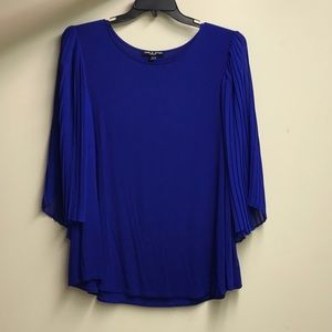 Beautiful royal blue top with flowing sleeves
